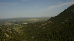Boulder Colorado Next to Flatirons in Rocky Mountains - stock footage