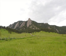 The Flatirons of the Rocky Mountains - stock footage