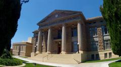 Mohave County Court House Side Angle Close Up- Kingman Arizona Stock Footage