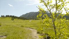 Flatirons Trail in Boulder Colorado Rocky Mountains Stock Footage