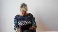 Stock Video Footage of mature woman with tablet pc