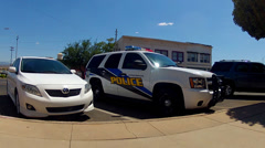New Police Cruiser SUV- Kingman Arizona Stock Footage