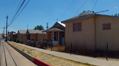 Row Of Low Income Houses Needing Repair- Kingman Arizona Stock Footage