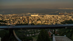 Haifa panoramic timelapse 1213 3 4K Stock Footage