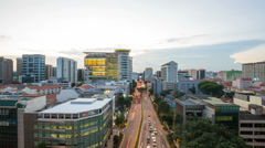 Time lapse movie of busy Bugis area in Singapore from Sunset into Blue Hour 1080 Stock Footage