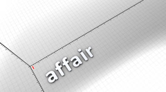 Growing chart graphic animation, Affair. - stock footage
