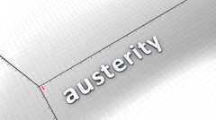 Growing chart graphic animation, Austerity. Stock Footage