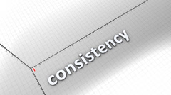 Growing chart graphic animation, Consistency. Stock Footage