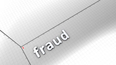 Growing chart graphic animation, Fraud. Stock Footage