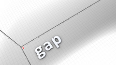Growing chart graphic animation, Gap. Stock Footage