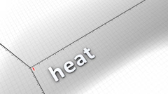 Growing chart graphic animation, Heat. Stock Footage