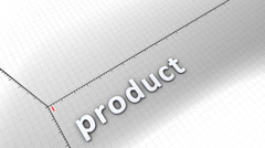 Growing chart graphic animation, Product. Stock Footage