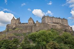 Edinburgh Castle on Castle Rock Stock Photos