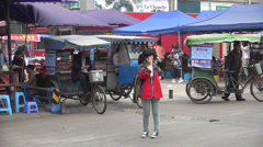 Tuk Tuk drivers waiting for business Stock Footage