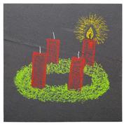 Advent wreath - stock illustration
