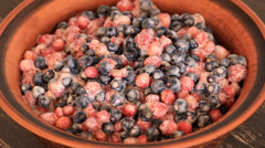 Strawberries and blueberries, wild berry Stock Footage