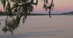 Sunset at the river - 4K (UltraHD) Stock Footage
