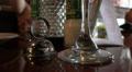 Bottom Of Stem Wine Glass On Table Ot Restaurant HD Footage