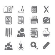 Tools learning  icon set 2 Stock Illustration