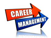 Stock Illustration of career management in arrows