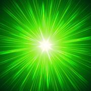 Shining green lights Stock Illustration