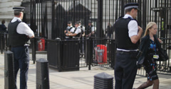 Security at Downing Street 4K Stock Footage