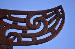 Maori  culture - wood curving Stock Photos