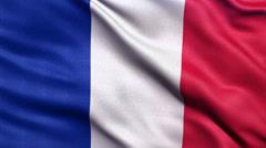 4K Flag of France seamless loop Stock Footage