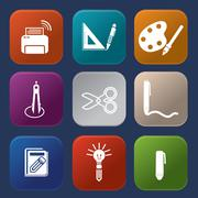 tools learning  icon - stock illustration