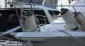 Bow of A Yatch In A Marina HD Footage