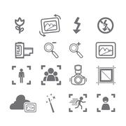 Camera icons menu Stock Illustration