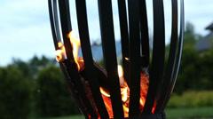 Campfire pagan holiday latvia Midsummer night Ligo Stock Footage