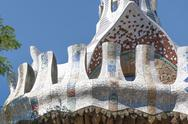 Stock Photo of park guell, barcelona
