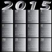 Monthly year 2015 two tone calendar Stock Illustration