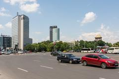 Rush Hour Traffic On Victory Square - stock photo