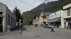 Tourists in Skagway, AK-HD-P-1393 - stock footage