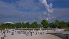 France, Paris, Tuileries garden. Stock Footage