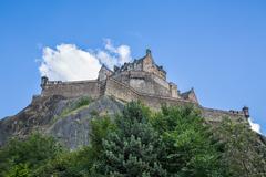 Edinburgh Castle on Rock - stock photo