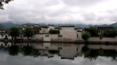 Chinese ancient town, Hongcun village Stock Footage