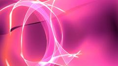 4k Abstract pink light annulus,satin ribbon&soft silk veils,flowing digital wav Stock Footage