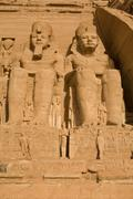 abu simbel right outside - stock photo