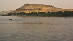 tombs of the nobles (aswan, egypt ) - stock photo