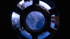 4K Indian Ocean to Pacific Ocean Through the Cupola - stock footage