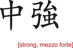 Stock Illustration of Chinese Sign for strong, mezzo forte