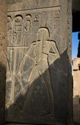 Luxor carvings of pharaoh Stock Photos