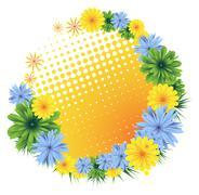 wildflowers - stock illustration