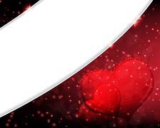 dissolved valentines day hearts - stock illustration