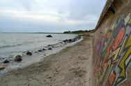 Stock Photo of embankment on coastline at baltic sea