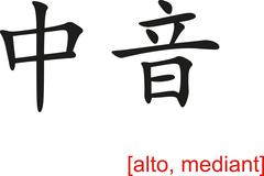 Stock Illustration of Chinese Sign for alto, mediant