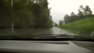 Stock Video Footage of Driving in the rain